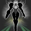 Super Smash Bros. White/Light Suit Samus Silhouette by jewlecho