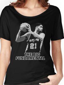 TIM DUNCAN - THE BIG FUNDAMENTAL Women's Relaxed Fit T-Shirt