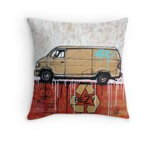 Graffiti Van Throw Pillow