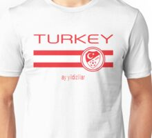 Euro 2016 Football - Turkey (Away White) Unisex T-Shirt