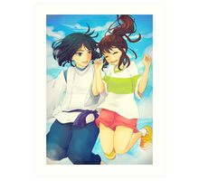 Chihiro and Haku - Spirited Away Art Print
