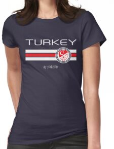 Euro 2016 Football - Turkey (Home Red) Womens Fitted T-Shirt