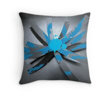 Blue Blade Intersection Throw Pillow