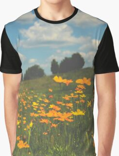 Summer Field of Wildflowers Graphic T-Shirt