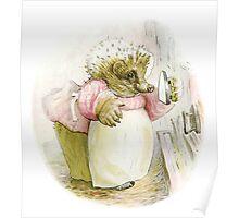 Mrs Tiggywinkle Beatrix Potter  Poster