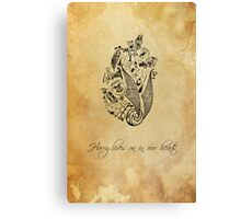 Harry Potter lives on in our hearts Canvas Print