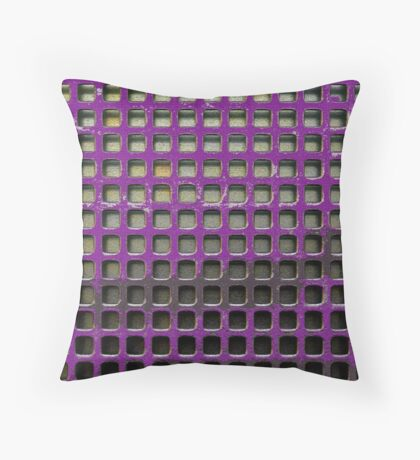 Purple Screen Throw Pillow