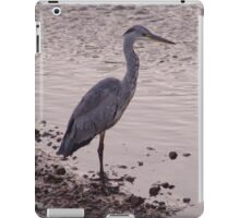 Heron and Grey Water iPad Case/Skin