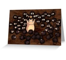 Soot Sprites - Spirited Away Greeting Card