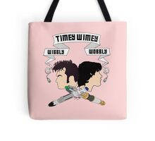 Timey Wimey Pink Throw Pillow Tote Bag