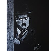 The Curious Charlie Chaplain Photographic Print