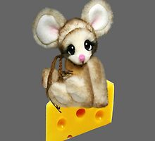 NIBBLES CUTE MOUSE SITTING ON CHEESE CHILDRENS THROW PILLOW by ✿✿ Bonita ✿✿ ђєℓℓσ