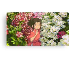 Running through the Flowers - Spirited Away Canvas Print