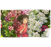 Running through the Flowers - Spirited Away Poster