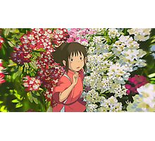 Running through the Flowers - Spirited Away Photographic Print