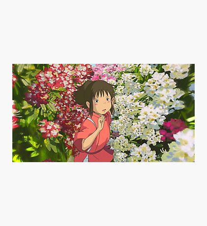 Running through the Flowers - Spirited Away Photographic Print