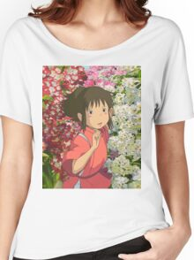 Running through the Flowers - Spirited Away Women's Relaxed Fit T-Shirt