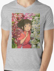 Running through the Flowers - Spirited Away Mens V-Neck T-Shirt
