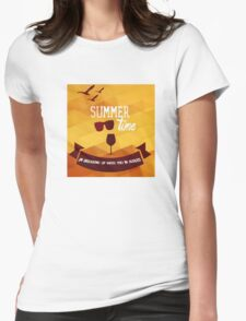 Summertime Womens Fitted T-Shirt