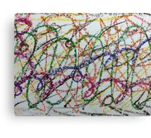 Colorful Oil Pastel Scribbles Canvas Print