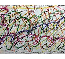 Colorful Oil Pastel Scribbles Photographic Print