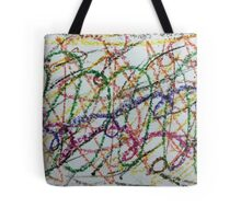 Colorful Oil Pastel Scribbles Tote Bag
