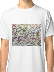 Colorful Oil Pastel Scribbles Classic T-Shirt