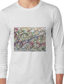Colorful Oil Pastel Scribbles Long Sleeve T-Shirt