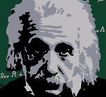 Albert Einstein Pop Art by smegsterdoo