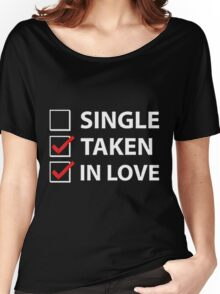 TAKEN IN LOVE CHECK Women's Relaxed Fit T-Shirt