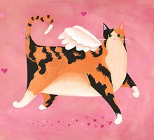 Calico Cupid Cat by Ryan Conners
