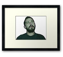 Shia Watching His Movies Framed Print
