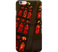 Glorious Reds and Yellows - Sagrada Familia Stained Glass Windows iPhone Case/Skin