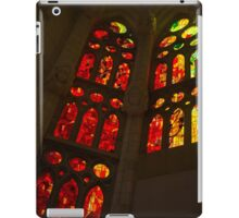 Glorious Reds and Yellows - Sagrada Familia Stained Glass Windows iPad Case/Skin