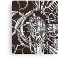 Metal Heart Canvas Print