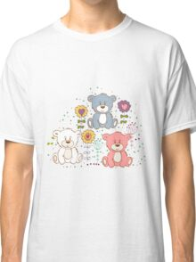 Cute bear and flowers 2  Classic T-Shirt