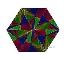 sdd Triangle Abstract Fractal Mandala 4J by mandalafractal