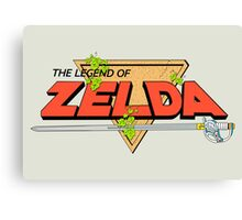 The Legend of Zelda Logo Canvas Print