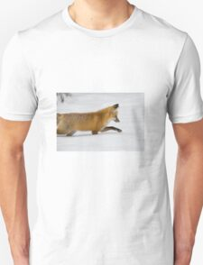 Fox in winter Unisex T-Shirt