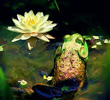 *Frog & Lily Photo Painting* by DeeZ (D L Honeycutt)