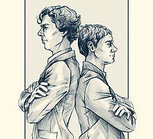 Holmes & Watson by otterymary
