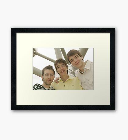 James, Oliver and Matthew Framed Print