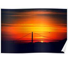 Golden Gate Sunset Poster