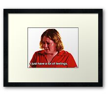 the girl that doesn't even go here Framed Print
