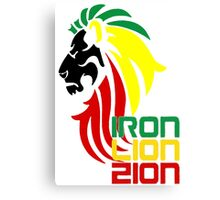 Reggae Rasta Iron, Lion, Zion 2 Canvas Print
