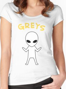 Oikawa Tooru's Alien Shirt Design Women's Fitted Scoop T-Shirt