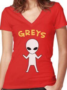 Oikawa Tooru's Alien Shirt Design Women's Fitted V-Neck T-Shirt