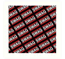 SWAG Pattern - Run Dmc Style Art Print