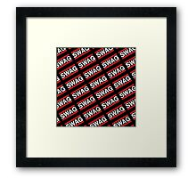 SWAG Pattern - Run Dmc Style Framed Print