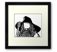 Ian as The Grey Wizard vacant expression Framed Print